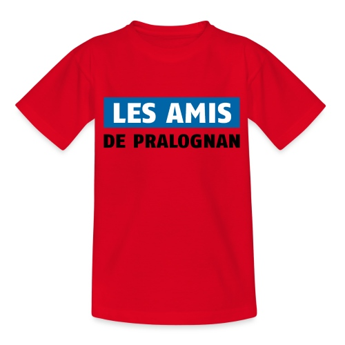 les amis de pralognan texte - T-shirt Ado