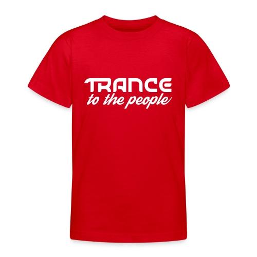 Trance to the People Hvidt Logo - Teenager-T-shirt