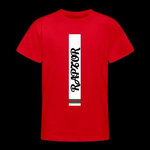 Raptor Sleeve white backround - Teenage T-Shirt