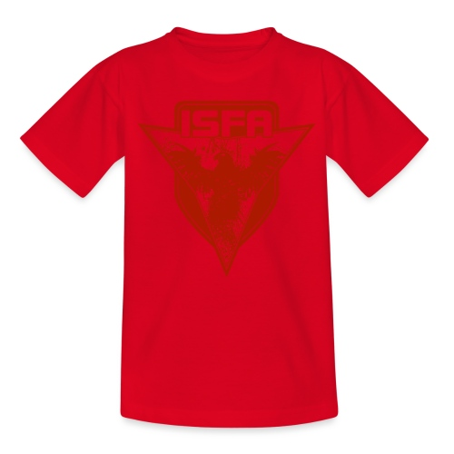 isfa logo 1c rot - Teenager T-Shirt
