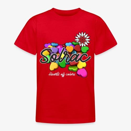 SOLRAC Hearts black - Camiseta adolescente