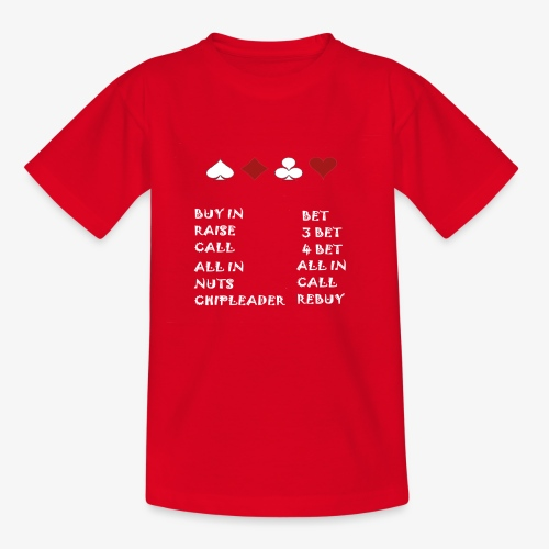 POKER VOKABEL HOLDEM CARDS - Teenager T-Shirt