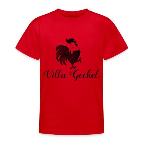 Schwarzes Villa Gockel Logo - Teenager T-Shirt
