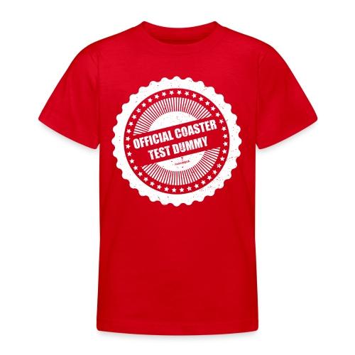 Mannequin officiel de test de montagnes russes - T-shirt Ado