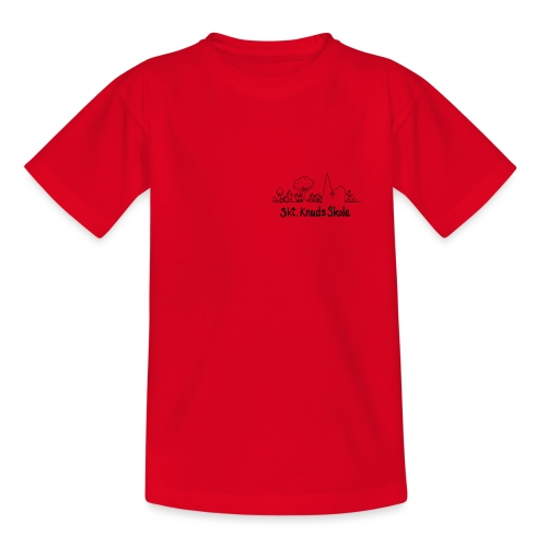 logo fra Skt Knuds Skole - Teenager-T-shirt