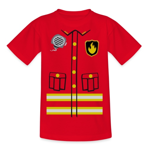Firefighter Costume - Teenage T-Shirt