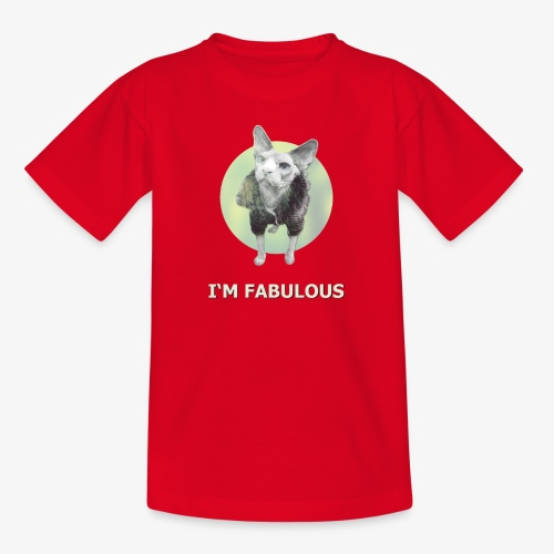 I'm fabulous with the Cat - Teenager T-Shirt