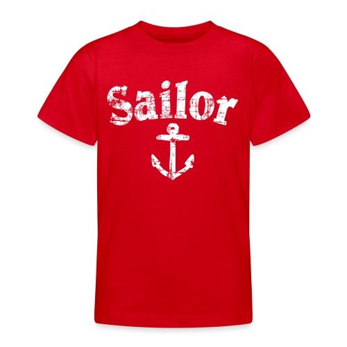 Sailor Anker Segeln Segel Segler (Vintage/Weiß) - Teenager T-Shirt