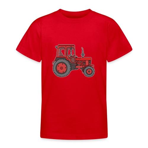 Roter Traktor / Trecker - Teenager T-Shirt