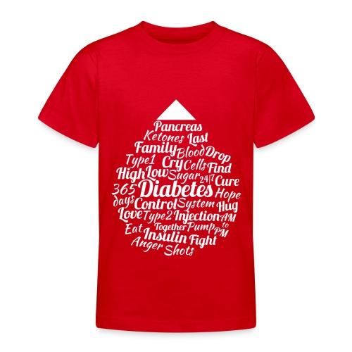CURE DIABETES - Teenage T-Shirt