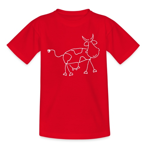 Happy Comic Cow - Teenager T-Shirt