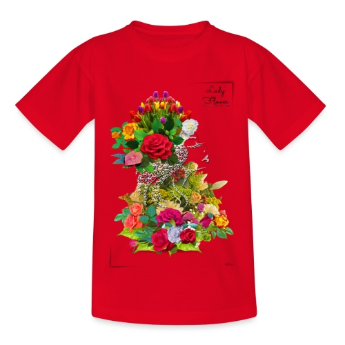 Lady flower -by- T-shirt chic et choc - T-shirt Ado