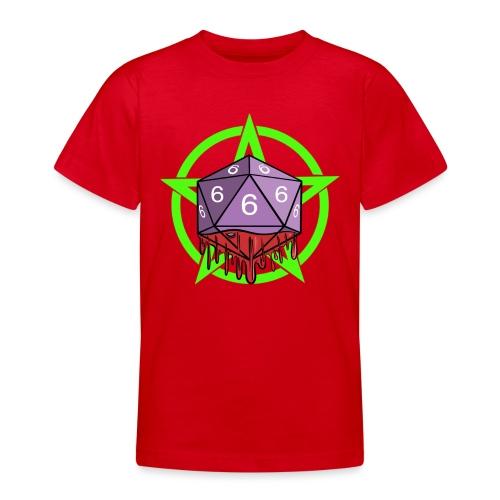 Würfel RPG Spiel Rollenspiele 666 mit Pentagramm - Teenager T-Shirt