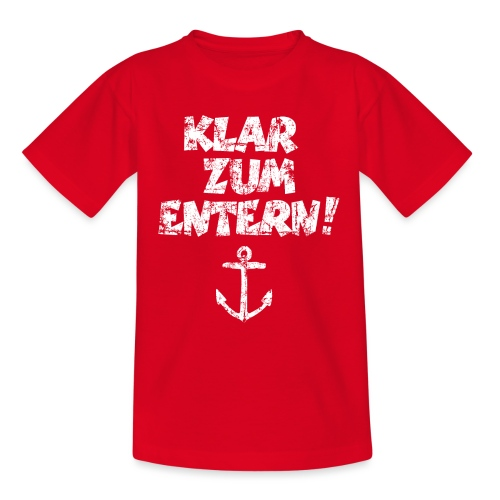 Klar zum Entern Segel Design (Vintage/Weiß) - Teenager T-Shirt