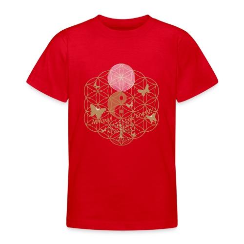 Das Leben umgeben von Energie. Blume des Lebens. - Teenager T-Shirt