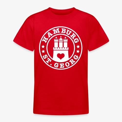 Ich liebe Hamburg Stadtteil St. Georg 1c - Teenager T-Shirt