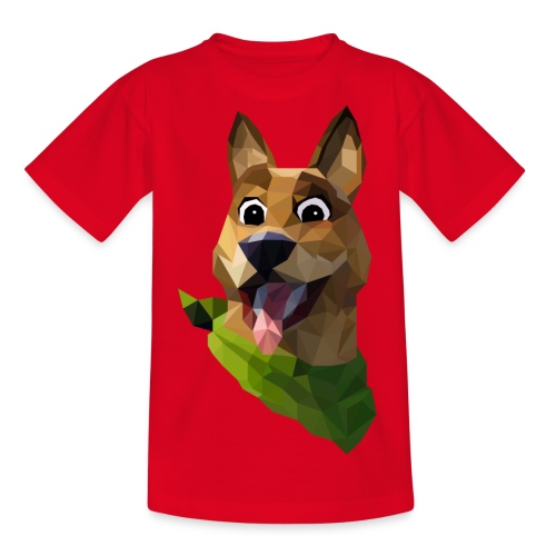 LOW POLY DOGO - T-shirt Ado