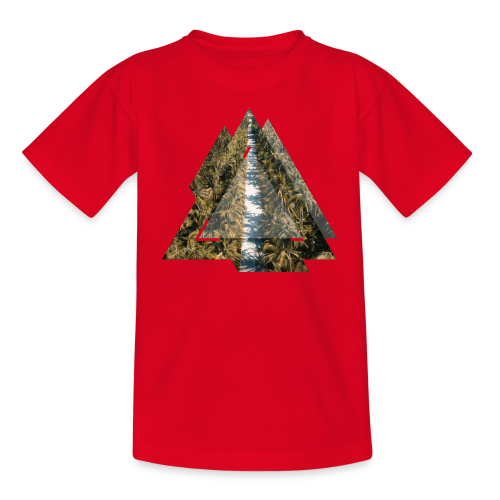 Triangle Tropical Palm Street - Teenager T-Shirt