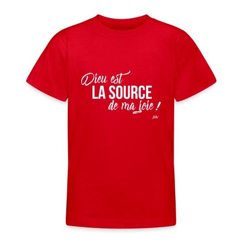 Dieu est la source de ma joie ! - T-shirt Ado