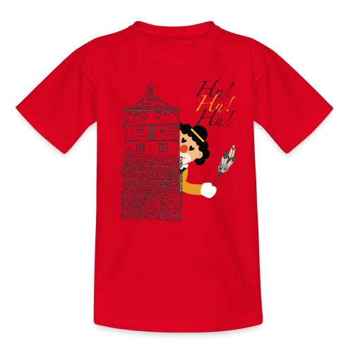 Hu! Hu! Hu! Schwarzgelber Clown am Schwarzen Tor - Teenager T-Shirt