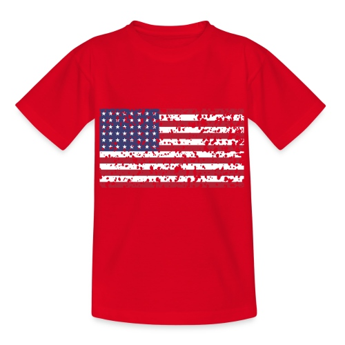 AVM WWII Trashed 48 star flag in color D'Day - Teenager T-shirt