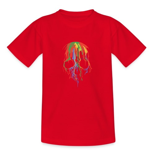 Skull and Colours - Camiseta adolescente