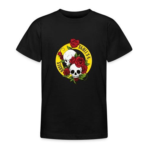 SKULL'S N ROSES - Camiseta adolescente