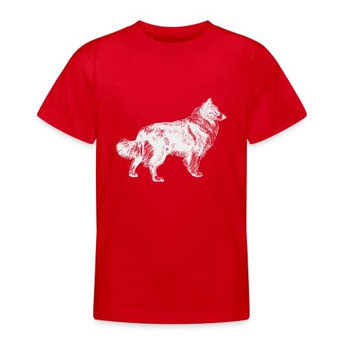 Collie negativ - Teenager T-Shirt