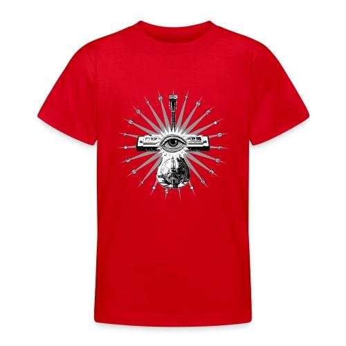 Blues Is The Truth - grey star - Teenage T-Shirt