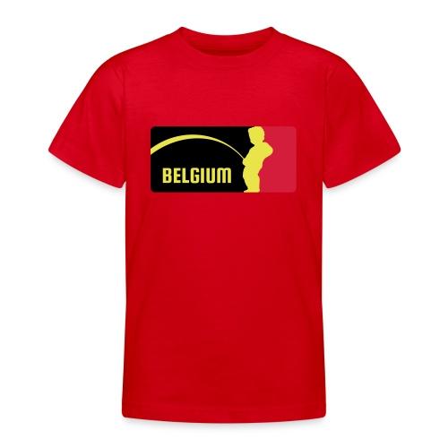 Mannekke Pis, Belgium Rode duivels - Belgium - Bel - T-shirt Ado