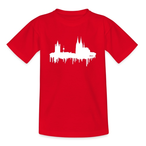 Skyline Köln - Weiß - Teenager T-Shirt