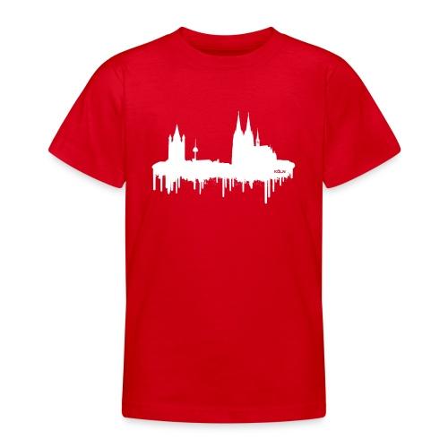 Skyline Köln - Weiß - Teenager T-Shirt