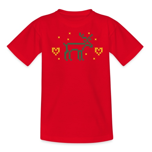 REN OCH HJÄRTAN, korsstygn - T-shirt tonåring