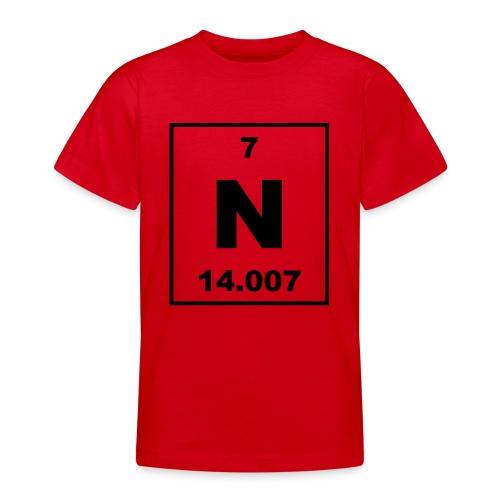 Nitrogen (N) (element 7) - Teenage T-Shirt