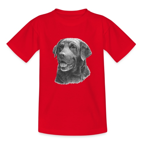 labrador bw - Teenager-T-shirt