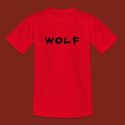 Wolf Font png - Teenager T-shirt