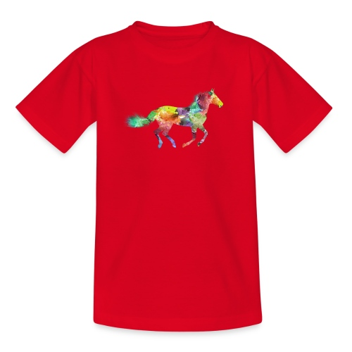 Rainbow Pferd - Teenager T-Shirt