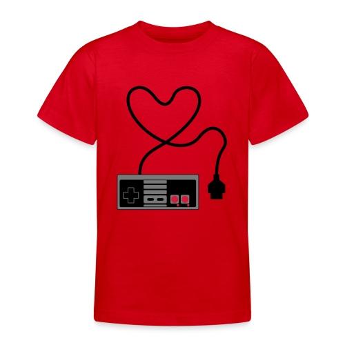NES Controller Heart - Teenage T-Shirt