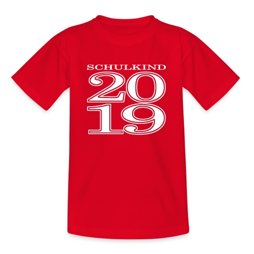 Schulkind 2019 - Teenager T-Shirt