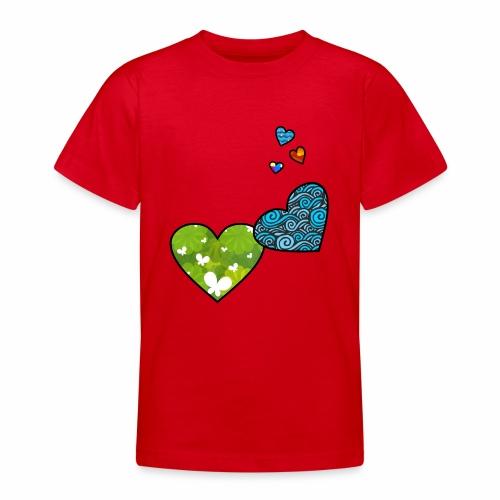 Herzchen - Teenager T-Shirt