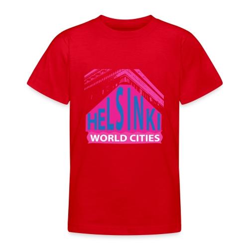 Helsinki2 pink2 - Teenage T-Shirt