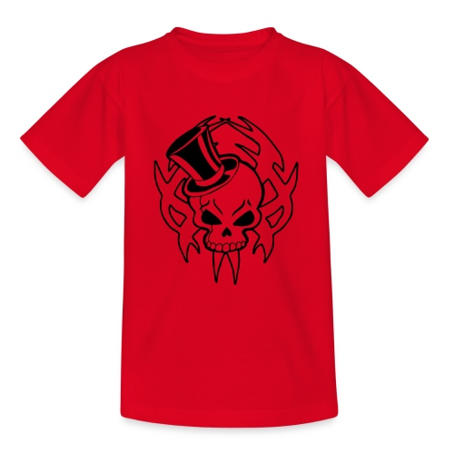 snazzy skull - Teenage T-Shirt