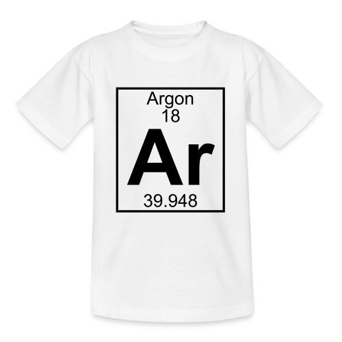 Argon (Ar) (element 18) - Teenage T-Shirt