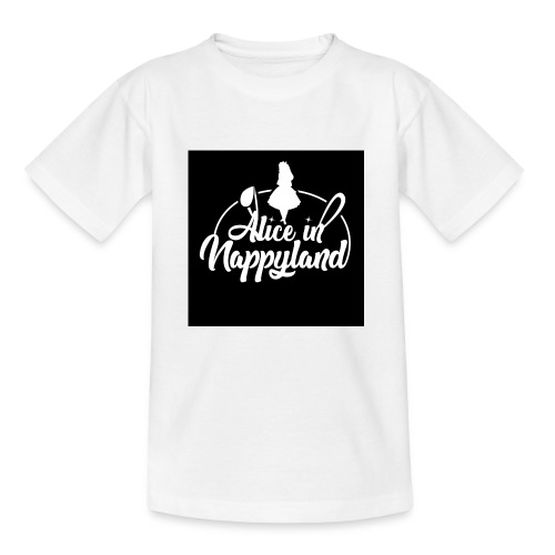 Alice in Nappyland TypographyWhite 1080 - Teenage T-Shirt