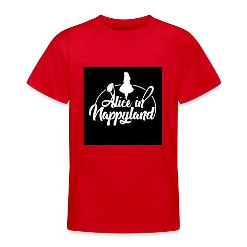 Alice in Nappyland TypographyWhite 1080 - Teenage T-Shirt