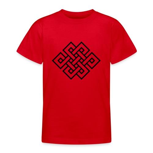 Endlos Knoten, Tibet, Unendlich, Glückssymbol - Teenager T-Shirt