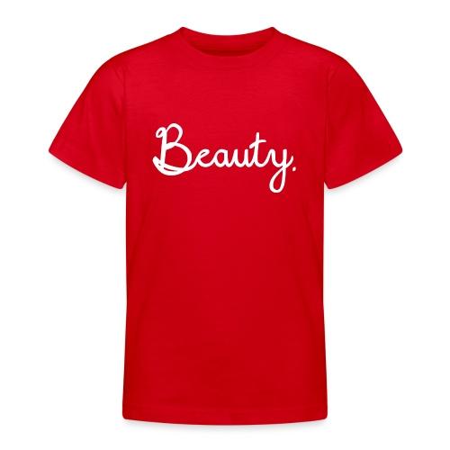 Beauty Weiß - Teenager T-Shirt