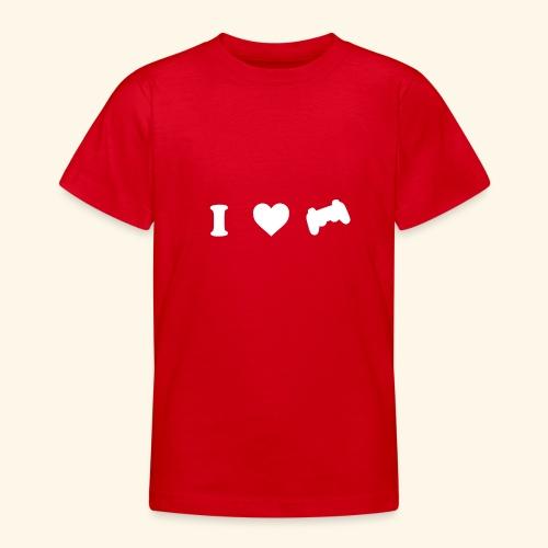 I love videogames - Camiseta adolescente