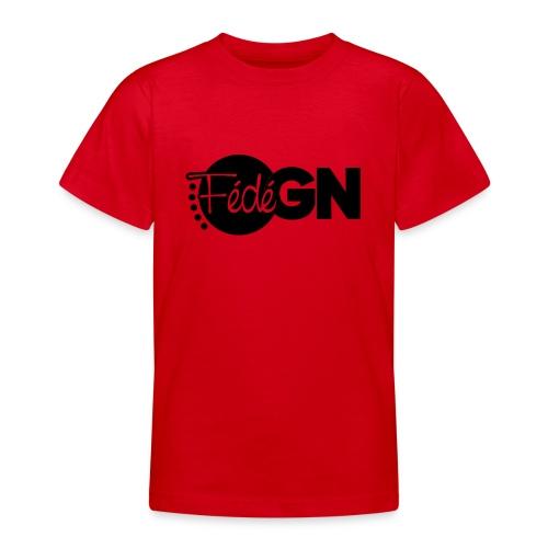 Logo FédéGN pantone - T-shirt Ado
