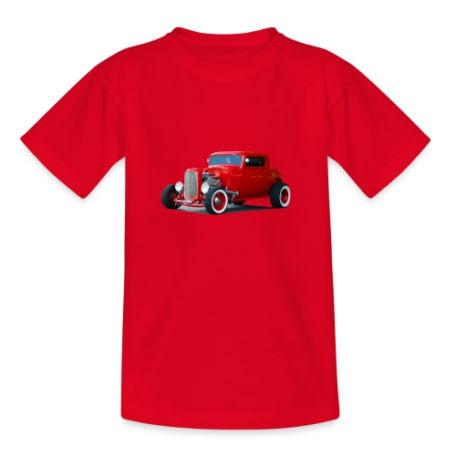 Hot rod red car - Teenager T-shirt